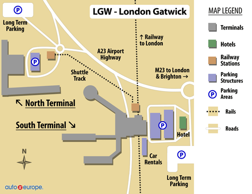 Gatwick Car Park Map
